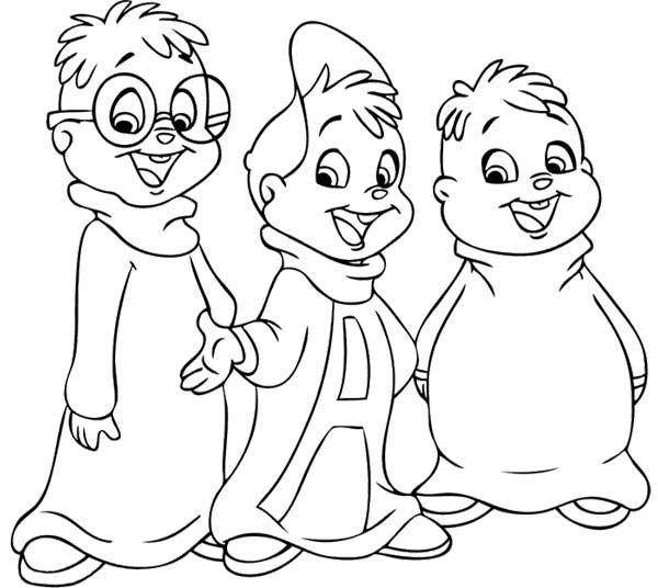 Alvin I Wiewiorki Dla Dzieci Do Druku