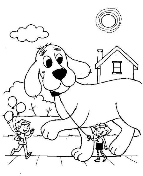 Clifford Wielki Czerwony Pies Do Druku