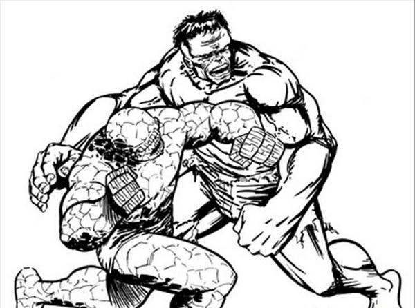 Kolorowanki Hulk Malowanki