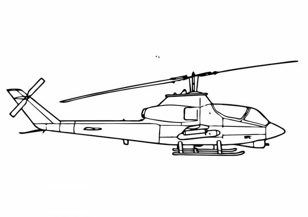 Helikopter Kolorowanka Dla Dzieci