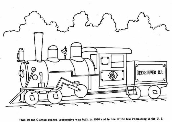 pokoloruj lokomotywę