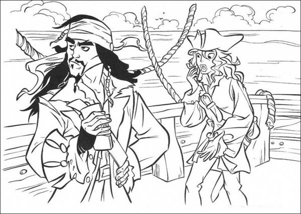 Piraci Z Karaibow Kolorowanka