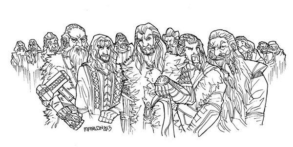 Kolorowanka Postacie Z Hobbita