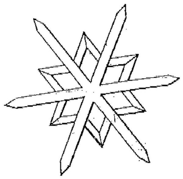 Sniezynka Kolorowanka