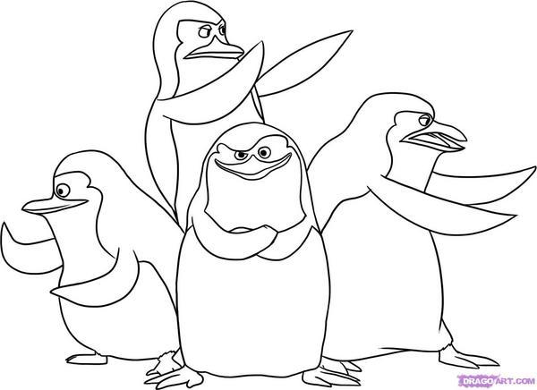 Kolorowanki Pingwiny Z Madagaskaru Malowanki