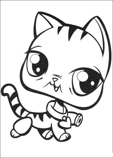 Kotek Anime Kolorowanka