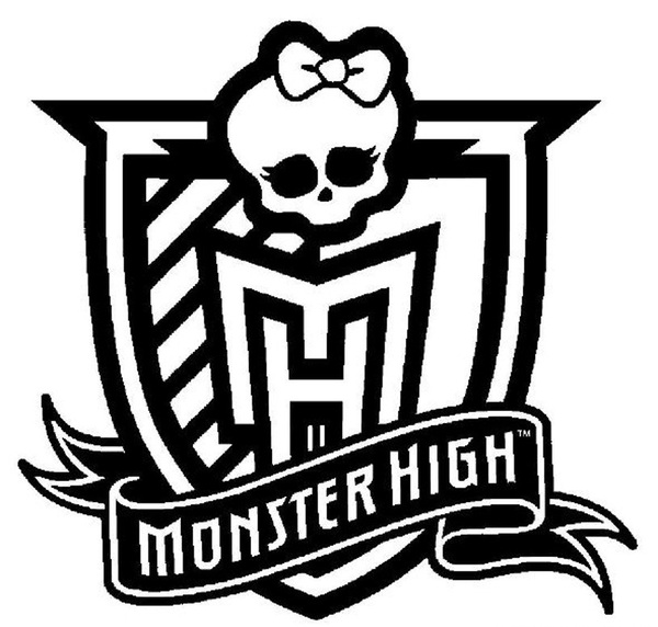 Logo Monster High Do Druku