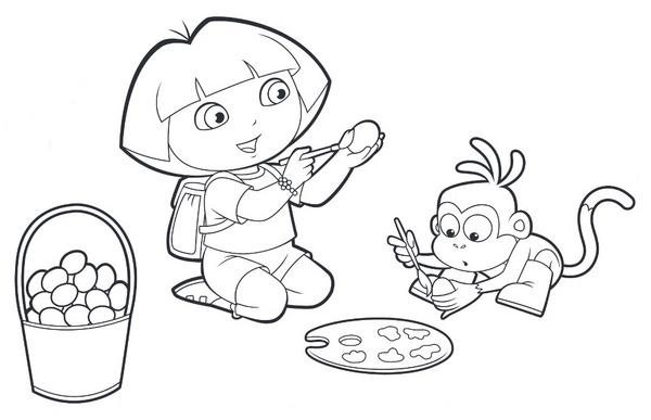 Malowanka Dora Odkrywa Swiat