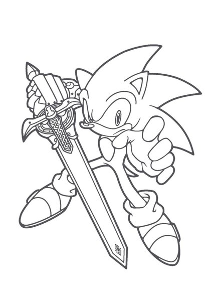 Kolorowanki Sonic X Malowanki