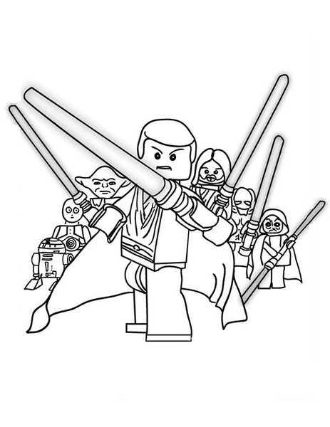 Star Wars Lego Do Druku