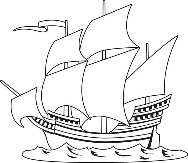 Statek Z Zaglami Do Drukowania