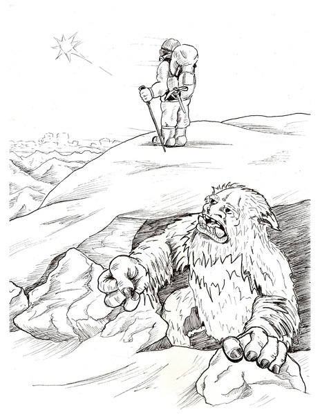 Yeti Do Wydruku