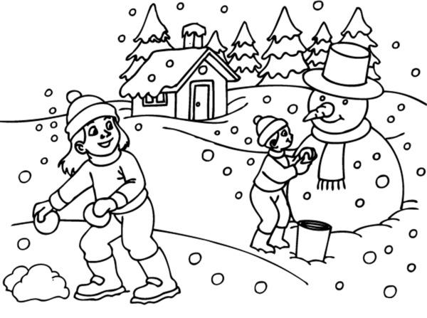 Zimowe Zabawy Na Sniegu