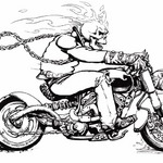 Ghost rider na motorze
