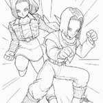 Kolorowanka manga i anime z Dragon Ball