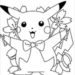 Pokemon Pikachu do druku