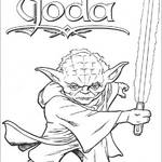 Yoda Star Wars do druku